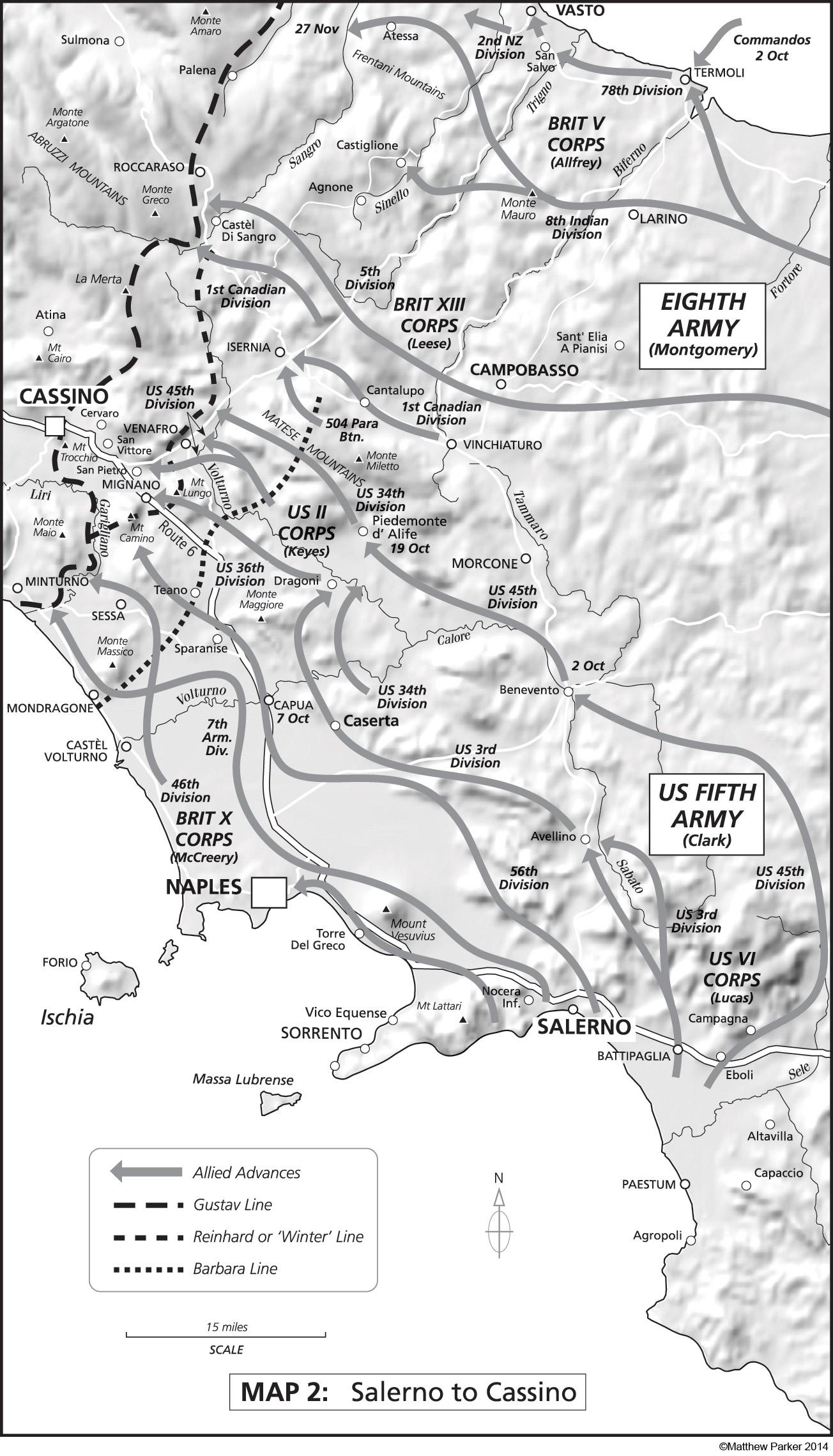 Map 2 Salerno to Cassino Matthew Parker Monte Cassino